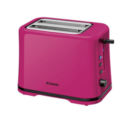 BOMANN Toaster TA 1577 CB Doppelschlitztoaster pink