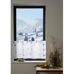 Scheibengardine Stern, my home, Ösen (1 Stück) weiß 90 cm x 30 cm
