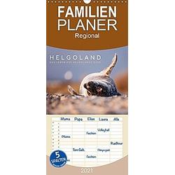 Helgoland - Das Leben auf der Düne Helgolands - Familienplaner hoch (Wandkalender 2021 , 21 cm x 45 cm, hoch)