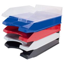 STYLEX® Ablagekorb, Offene Box zum Ablegen und Sortieren von Dokumenten, farbig sortiert