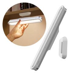 Baseus LED Nachttischlampe Baseus Magnetische Nachttischlampe LED Unterbaulampe Leselampe Tragbar Drahtlos Touch Schreibtischlampe, weiß