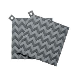 RIG-TIG Topflappen HOLD-ON 2er Set Grau grau