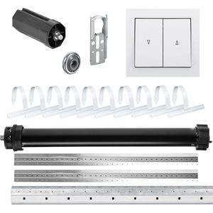 NOBILY *** Rolladen-Komplett-Set für 60mm (SW60) Achtkantwelle Maxi-Rolladenmotor 30Nm + Wippschalter + Mechanik-Set inkl. 3,50m Welle