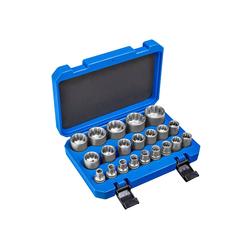 tectake Steckschlüssel Außen Vielzahn Steckschlüsselsatz 21-tlg.
