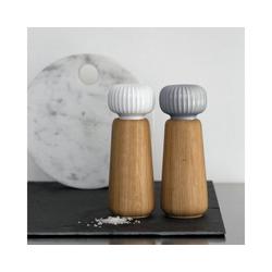 Kähler Salz-/Pfeffermühle Salz- oder Pfeffermühle Hammershøi 17.5 cm weiß, Keramikmahlwerk, manuell