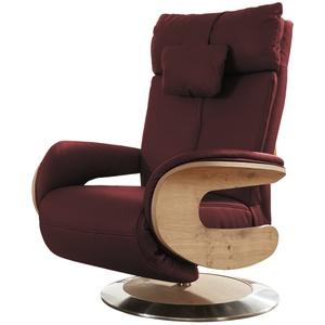 himolla Relaxsessel Leder  Hilke ¦ rot ¦ Maße (cm): B: 75 H: 112 T: 87 » Möbel Kraft