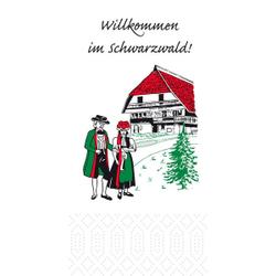 DUNICEL Zelltuch-Servietten mit Motiv, Mundtuch im Format: 33 x 33 cm, 1 Karton = 1000 Stück, Schwarzwald