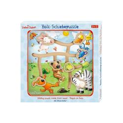 Spiegelburg Puzzle Die Lieben Sieben: Holz-Schiebepuzzle Ausflug ins, Puzzleteile