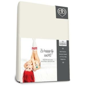 Bed-Fashion-Stretch Spannbetttuch, Frottee, gebrochenes Weiß, doppelt, 140x 200cm