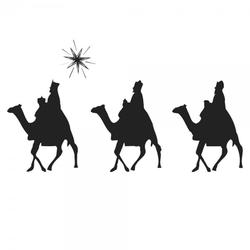 Weihnachten Holzstempel - Sternsinger (40x30 mm)