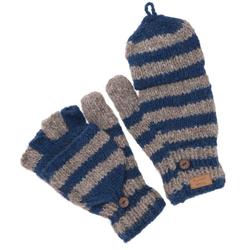 Guru-Shop Strickhandschuhe Handgestrickte Handschuhe, gestreifte..