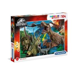 Clementoni® Puzzle Puzzle 104 Teile Supercolor - Jurassic World, Puzzleteile
