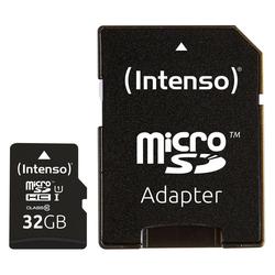 Intenso Micro SD Card Speicherkarte 32GB inkl. SD Adapter Speicherkarte