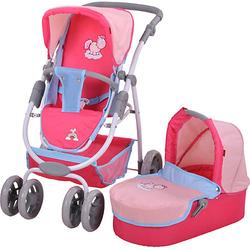 Kombi-Puppenwagen Coco - Theodor & Friends rosa/blau