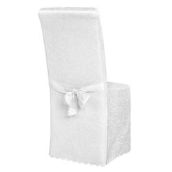 Stuhlhusse Stuhlhusse aus Polyester mit Schleife, tectake