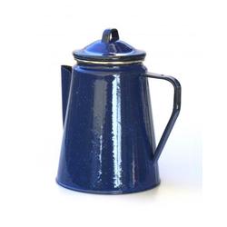 Emaille Kaffeekanne 1,8 L ca. 8 Tassen blau