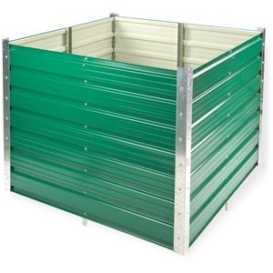 Metall Hochbeet Rosendaal, grün, 99x99x80 cm, Langlebig Verzinkt