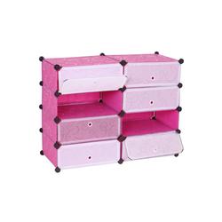 MCW Schuhschrank MCW-B66 Beliebig erweiterbar, Einfaches Stecksystem, Beliebig erweiterbar rosa