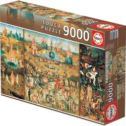 Educa Puzzle DER GARTEN DER LÜSTE, 9000 Puzzleteile