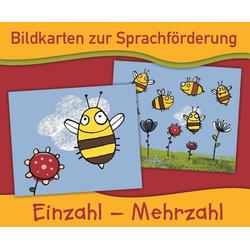 Bildkarten zur Sprachförderung: Einzahl - Mehrzahl