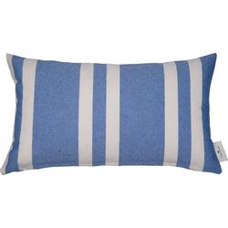 Kissenhülle Different Spreads, TOM TAILOR (1 Stück), mit modernen Streifen blau 50 cm x 30 cm