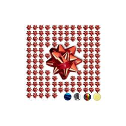 relaxdays Geschenkpapier Kleine Geschenkschleifen 100er-Set rot