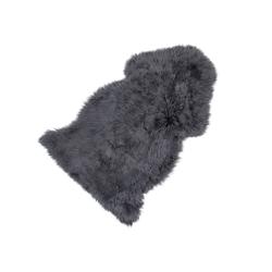 Sitzauflage Lammfell grau, 5x95x50 cm