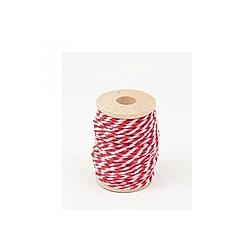 Baumwollgarn rot/weiß
