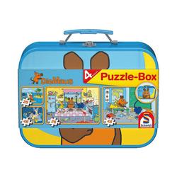 Schmidt Spiele Puzzle-Tasche Puzzlekoffer 2 x 26 und 2 x 48 Teile Die Maus