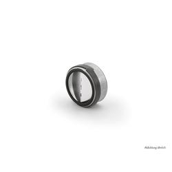 Rückstauklappe rund, Abluftzubehör, Ø 125 mm, L 49 mm