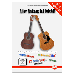 Michael Schwager, Aller Anfang ist leicht, Gitarrenschule + DVD und Playback-CD (Mängelexemplar)