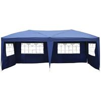 Outsunny Faltpavillon 3 x 6 m inkl. 4 Seitenteile blau