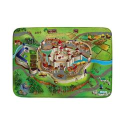 Kinderteppich Ultrasoft Spielteppich Bauernhof, ACHOKA® braun