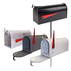 Amerikanischer Briefkasten / Standbriefkasten - Modell nach Wahl, Auswahl Modell: Alu Briefkasten weiß