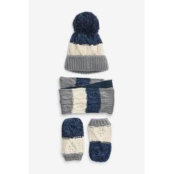 Next Kleid & Schal Mütze, Schal und Handschuhe, 3er-Set (3-tlg) 48