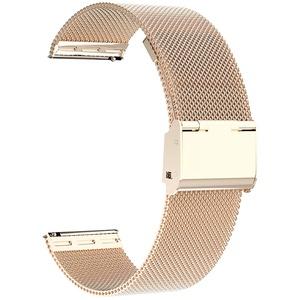 Uhrenarmbänder, 16 mm 18 mm 20 mm 22 mm Ersatz-Edelstahl-Metallgitterband, Schnellverschluss-Uhrenarmband-Metallschraube, intelligente Uhrenarmbänder für Männer Frauen. (16mm, gold)