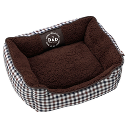 D&D Hundebett Sweet Checker Dominobed, Maße: 60 x 50 x 20 cm