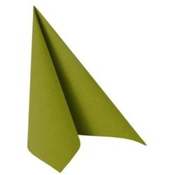 """Papstar """"ROYAL Collection"""" Servietten, 1/4-Falz, 33 cm x 33 cm, Hochwertige Premium-Servietten in Stoffoptik, 1 Karton = 5 Packungen á 50 Stück, olivgrün"""