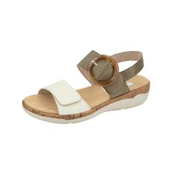 Sandale Remonte Khaki/Creme-Weiß
