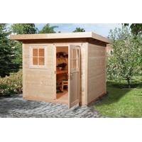 weka Gartenhaus 170 1 2,35 x 2,10 m natur