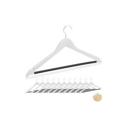 relaxdays Kleiderbügel Kleiderbügel aus Holz 12er Set