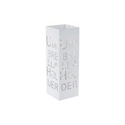 MCW Schirmständer MCW-C78 (1 Stück), Zwei Haken für Taschenschirme, quadratisch weiß
