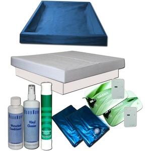Wasserbett Komplett - Dual Softside Digital Heizung Calesco Starter Set Podest