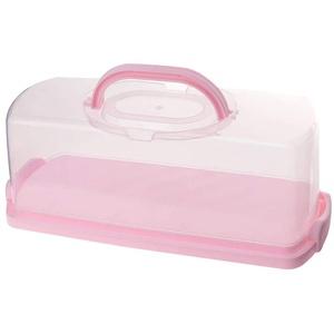 Wankd Kuchenbox eckig, Tragegriff, Kuchenbehälter mit Haube Fresh Kuchenbehälter Fresh Tortenglocke Kuchenform Kuchenbox BPA-freier Kunststoff Kuchentransportbox