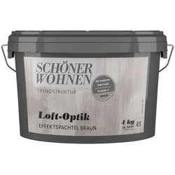 SCHÖNER WOHNEN-Kollektion Spachtelmasse Loft-Optik Effektspachtel braun, 4 kg