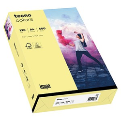 tecno Kopierpapier colors hellgelb DIN A4 120 g/qm 250 Blatt