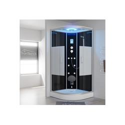 TroniTechnik Eckdusche EASY Dampfdusche, BxT: 90x90 cm, ESG, mit Dampfgenerator, Sitz, Massagefunktion, Touch-Steuereinheit