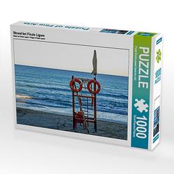 Strand bei Finale Ligure Lege-Größe 64 x 48 cm Foto-Puzzle Bild von Frank Brehm Puzzle