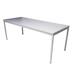 ADB Bürotisch Stahlrohr-Tisch Computertisch Schreibtisch grau 2000x800x750 mm