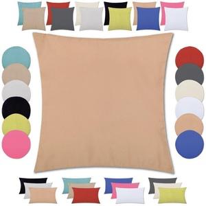 Bestlivings Kissenhülle, Kissenbezug mit wahlweise einem Innenkissen, Optik: Satin matt, viele versch. Größen braun eckig - 40 cm x 40 cm